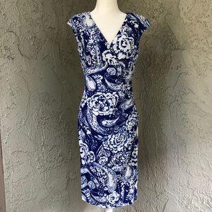 Lauren by Ralph Lauren Blue Print Essential Dress